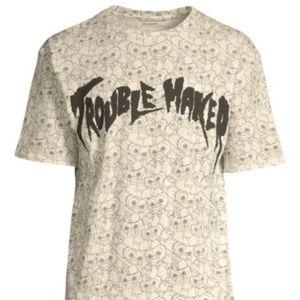 Gremlins x ElevenParis T Shirt Crew Neck Off White